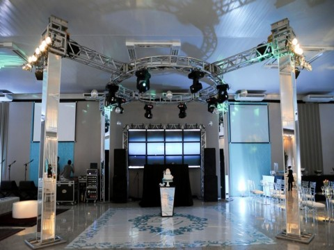 Videowall no Box Truss