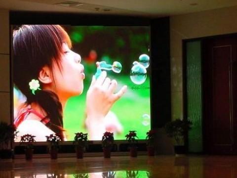 Utilização do painel de led em exposições